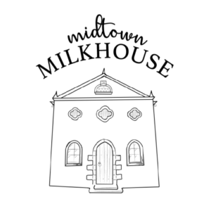 farmhouse stable illustration with text above